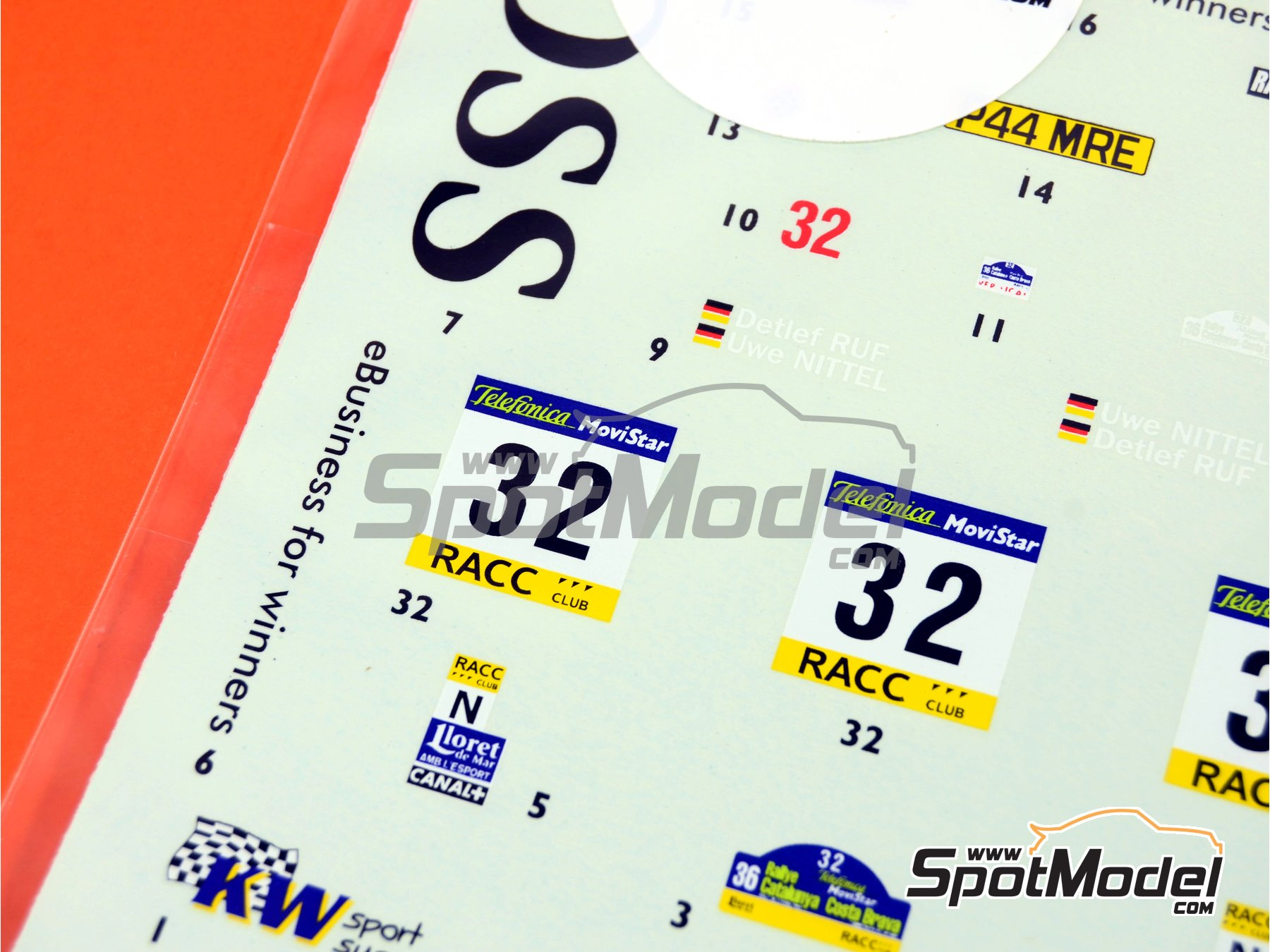 Image 4: Mitsubishi Lancer Evo VI WRC Coss - Rally de Cataluña Costa Dorada RACC 2000 | Calcas de agua en escala1/24 fabricado por Studio27 (ref.ST27-DC342)