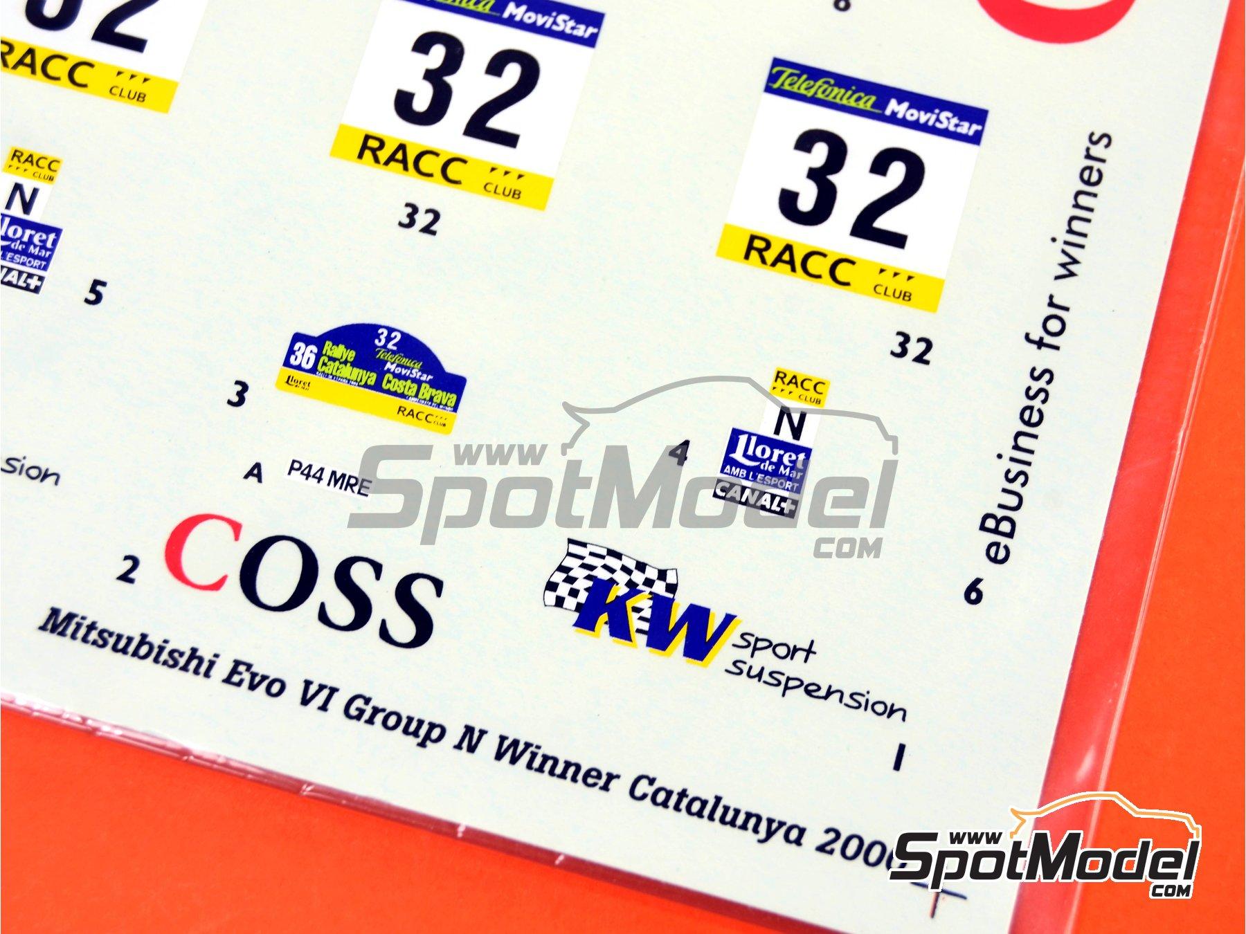 Image 5: Mitsubishi Lancer Evo VI WRC Coss - Rally de Cataluña Costa Dorada RACC 2000 | Calcas de agua en escala1/24 fabricado por Studio27 (ref.ST27-DC342)