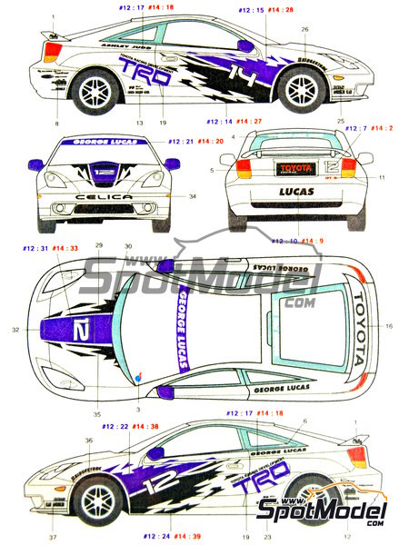 Toyota New Celica GT-S TRD - USA West Long Beach Formula 1 Grand Prix 2000   Marking / livery in 1/24 scale manufactured by Studio27 (ref.ST27-DC352) image