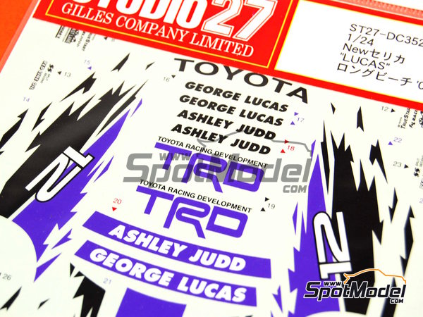 Image 4: Toyota New Celica GT-S TRD - USA West Long Beach Formula 1 Grand Prix 2000   Marking / livery in 1/24 scale manufactured by Studio27 (ref.ST27-DC352)