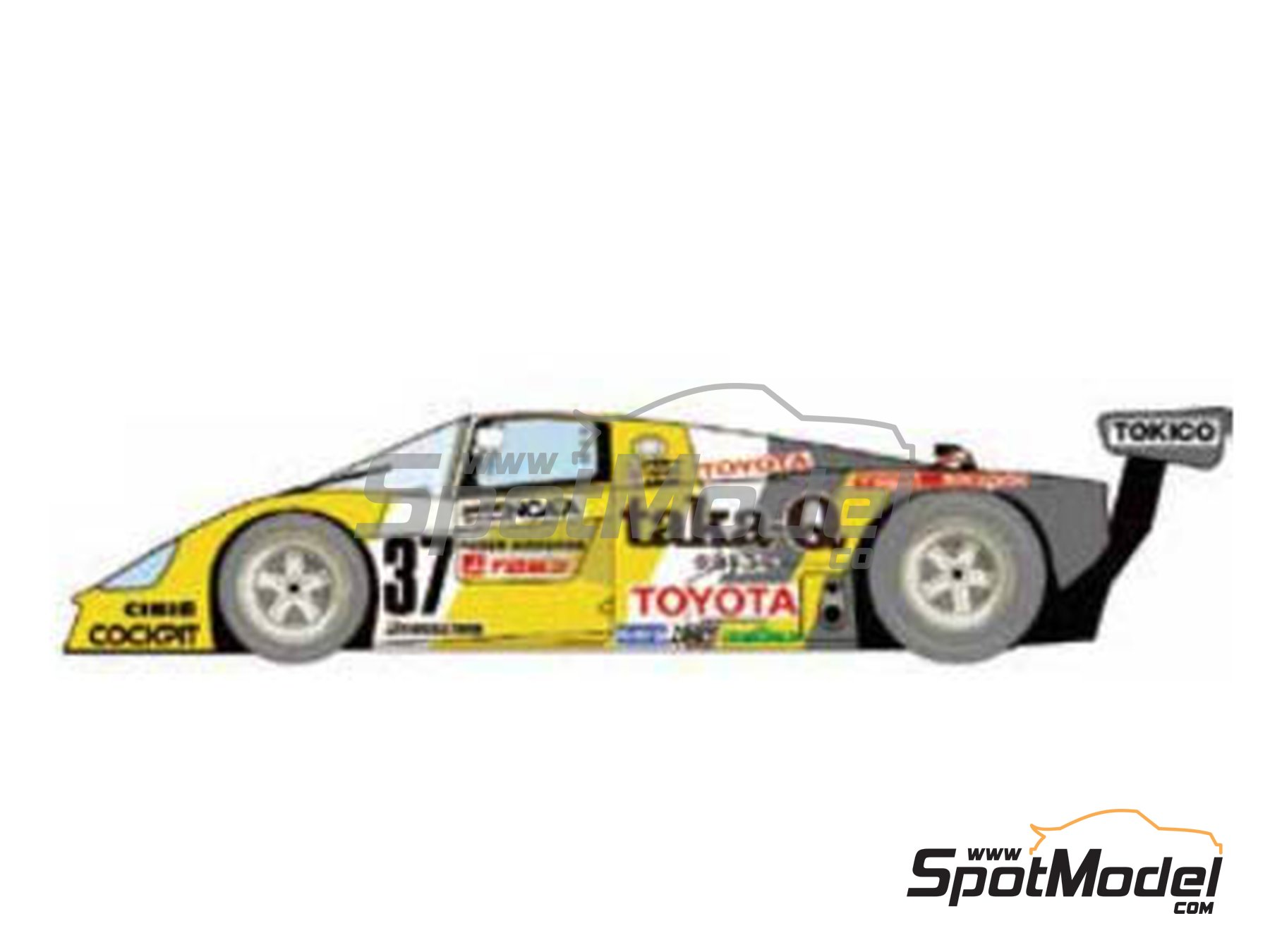 Image 2: Toyota 88C taka-Q - 24 Hours Le Mans 1988 | Marking / livery in 1/24 scale manufactured by Studio27 (ref.ST27-DC377D)