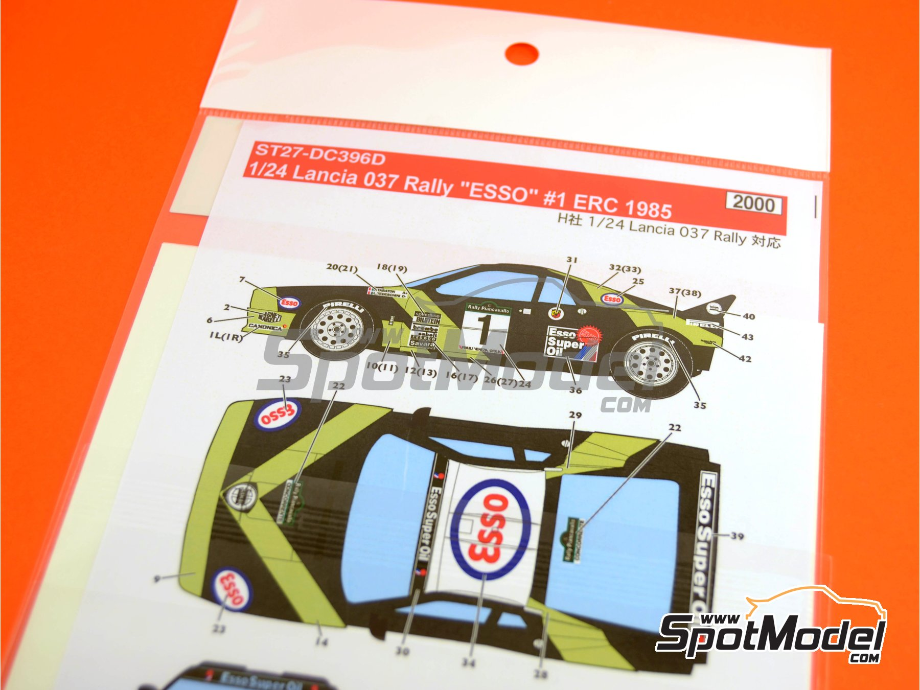 Image 1: Lancia 037 Rally ESSO - Rally Piancavallo 1985 | Marking / livery in 1/24 scale manufactured by Studio27 (ref. ST27-DC396D)