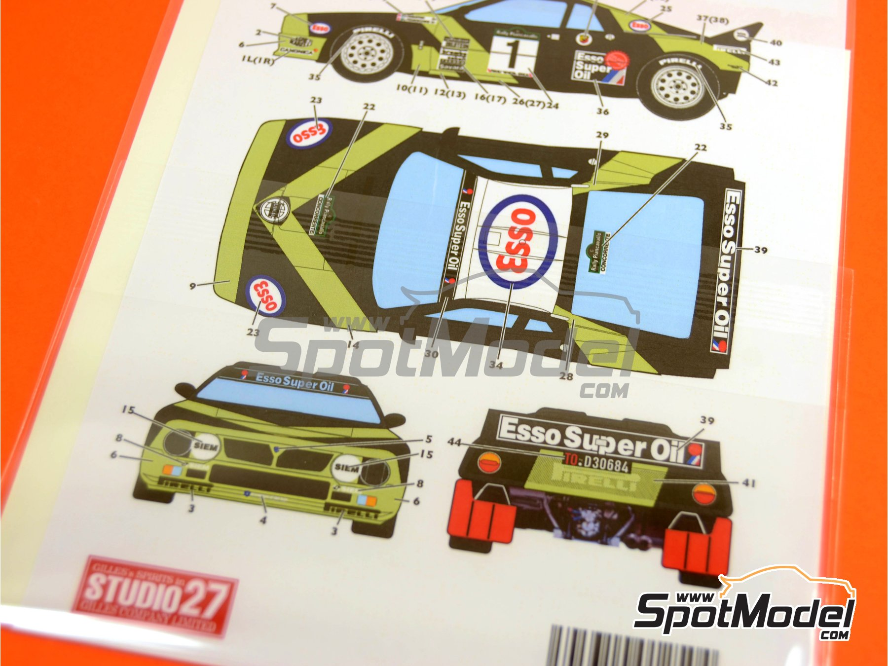 Image 2: Lancia 037 Rally ESSO - Rally Piancavallo 1985 | Marking / livery in 1/24 scale manufactured by Studio27 (ref. ST27-DC396D)