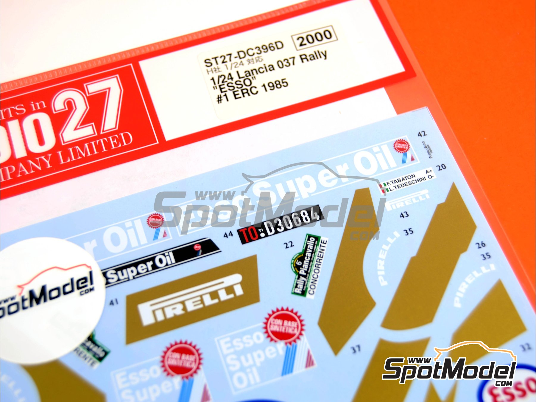 Image 3: Lancia 037 Rally ESSO - Rally Piancavallo 1985 | Marking / livery in 1/24 scale manufactured by Studio27 (ref. ST27-DC396D)