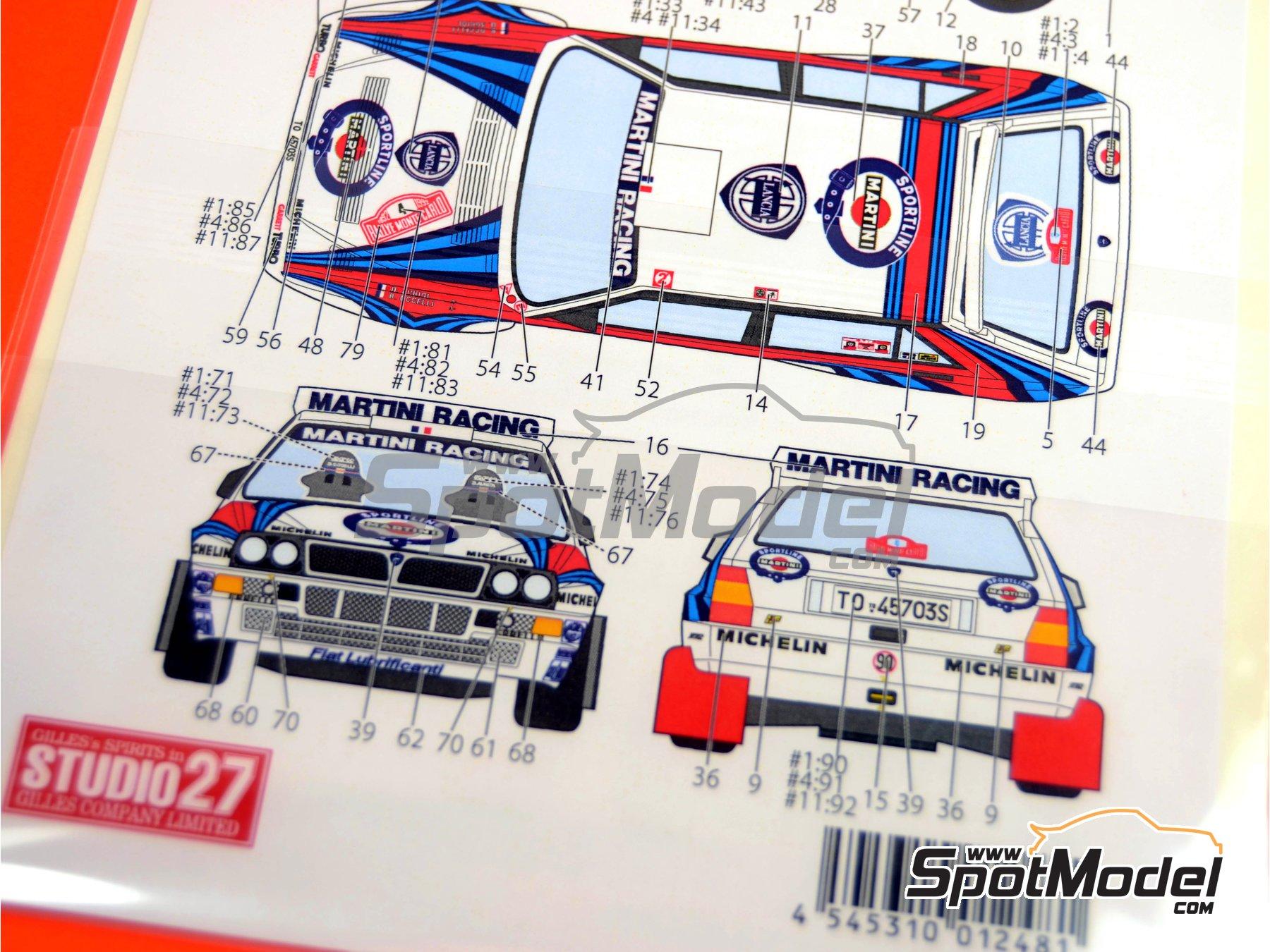 Image 2: Lancia Super Delta Deltona HF Integrale Marlboro - Rally de Montecarlo - Rallye Automobile de Monte-Carlo, Rally de San Remo 1992 | Decoración en escala1/24 fabricado por Studio27 (ref.ST27-DC606D)