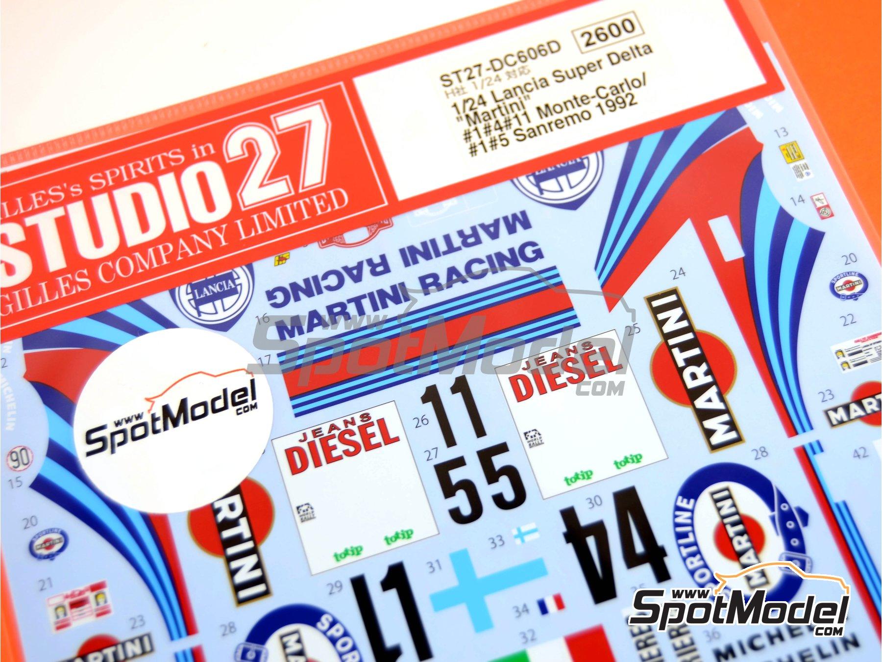 Image 3: Lancia Super Delta Deltona HF Integrale Marlboro - Rally de Montecarlo - Rallye Automobile de Monte-Carlo, Rally de San Remo 1992 | Decoración en escala1/24 fabricado por Studio27 (ref.ST27-DC606D)
