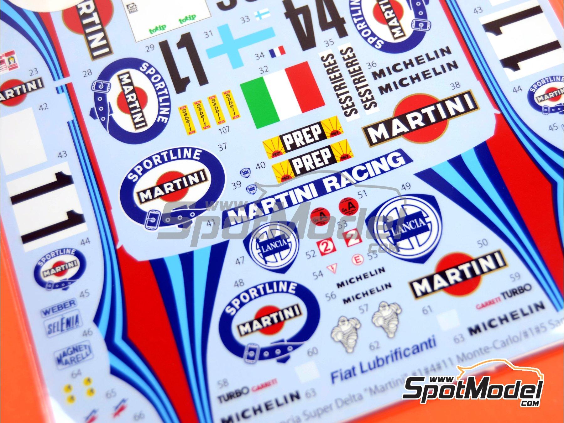 Image 5: Lancia Super Delta Deltona HF Integrale Marlboro - Rally de Montecarlo - Rallye Automobile de Monte-Carlo, Rally de San Remo 1992 | Decoración en escala1/24 fabricado por Studio27 (ref.ST27-DC606D)