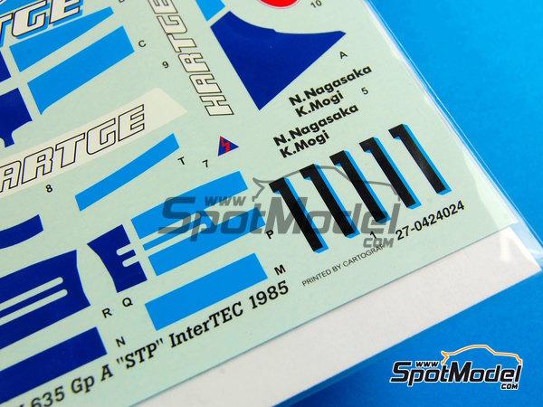 Image 4: BMW 635 Csi Hartge STP - Campeonato Inter TEC Fuji 1985   Decoración en escala1/24 fabricado por Studio27 (ref.ST27-DC694C)