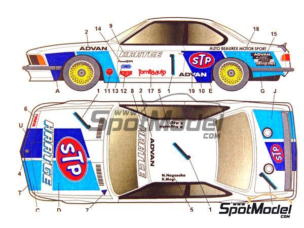 Image 6: BMW 635 Csi Hartge STP - Campeonato Inter TEC Fuji 1985   Decoración en escala1/24 fabricado por Studio27 (ref.ST27-DC694C)