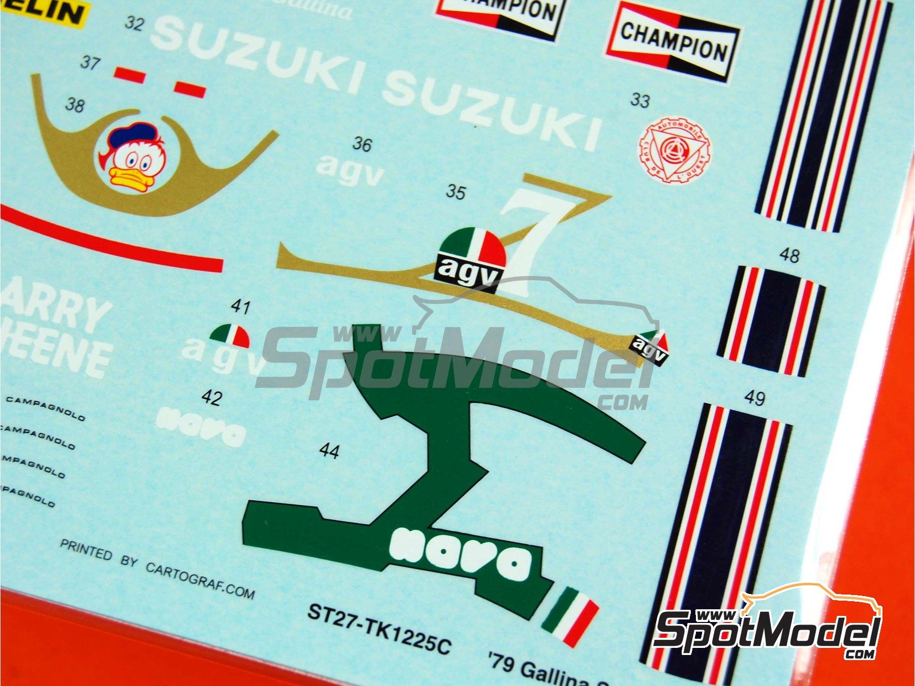 Image 4: Suzuki RGB500 Nava Olio Fiat - Motorcycle World Championship 1979 | Marking / livery in 1/12 scale manufactured by Studio27 (ref.ST27-DC740C)