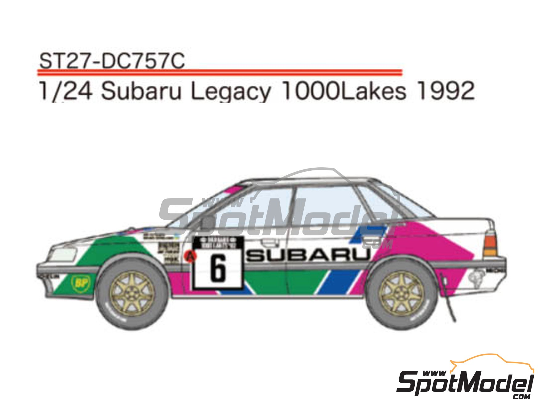 Image 1: Subaru Legacy RS Subaru Rally Team Europe - 1000 Lakes Finland Rally 1992 | Marking / livery in 1/24 scale manufactured by Studio27 (ref. ST27-DC757C)