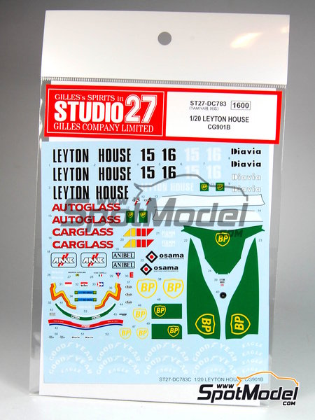 Leyton House Judd CG901B Carglass BP Osama Anibel - FIA Formula 1 World Championship 1990 | Marking / livery in 1/20 scale manufactured by Studio27 (ref. ST27-DC783) image