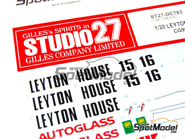 Image 12: Leyton House Judd CG901B Carglass BP Osama Anibel - FIA Formula 1 World Championship 1990 | Marking / livery in 1/20 scale manufactured by Studio27 (ref.ST27-DC783)