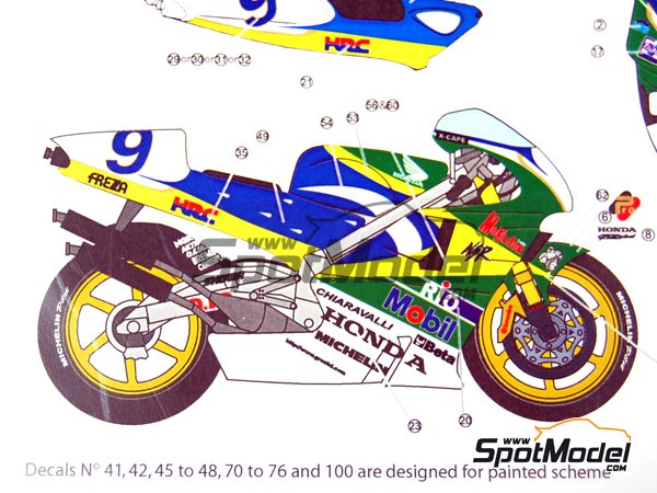 Image 15: Honda NSR500 - Motorcycle World Championship 1998 | Marking / livery in 1/12 scale manufactured by Studio27 (ref.ST27-DC808)