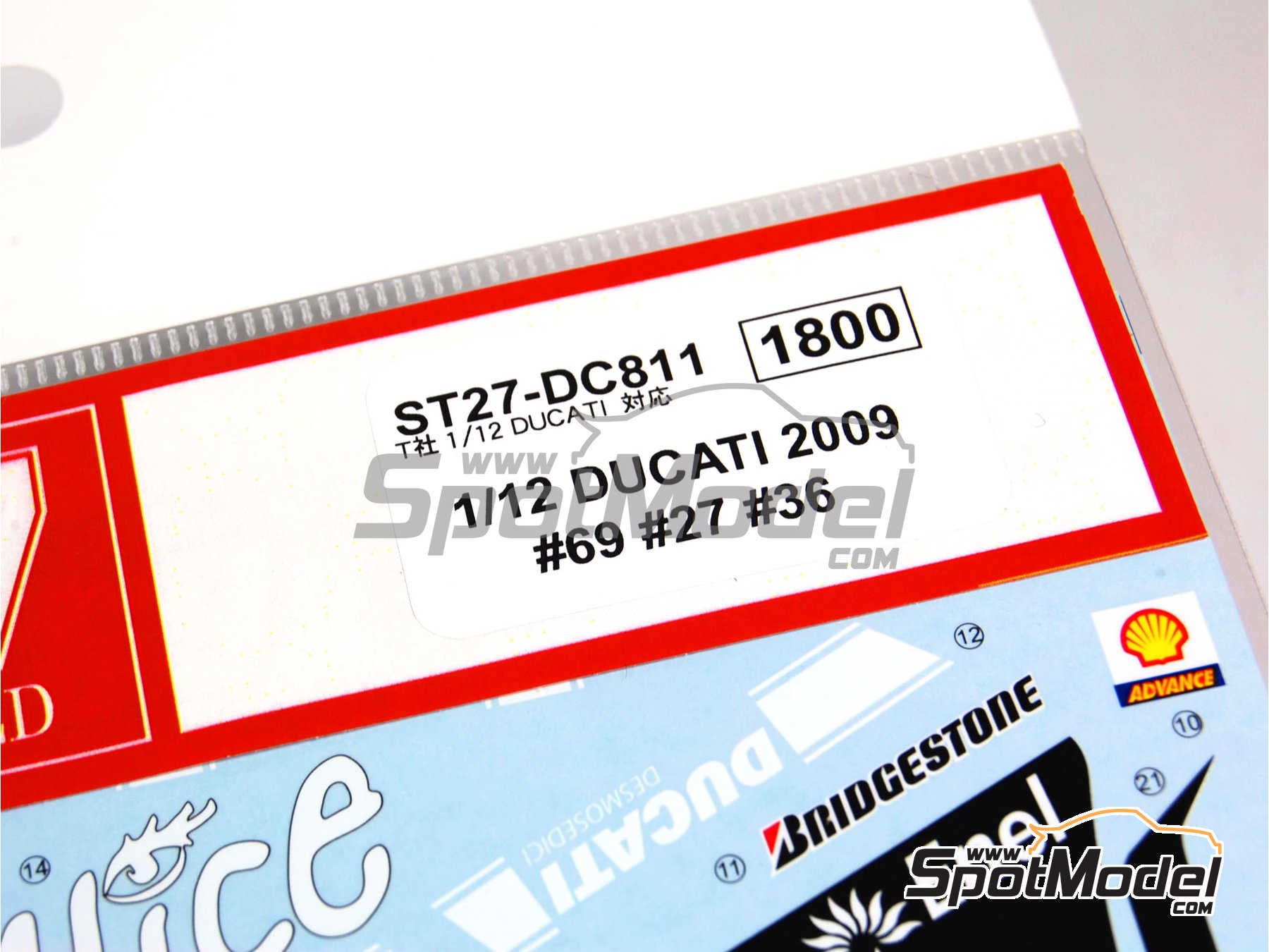 Image 2: Ducati Desmosedici GP9 Enel - Motorcycle World Championship 2009 | Marking / livery in 1/12 scale manufactured by Studio27 (ref.ST27-DC811)