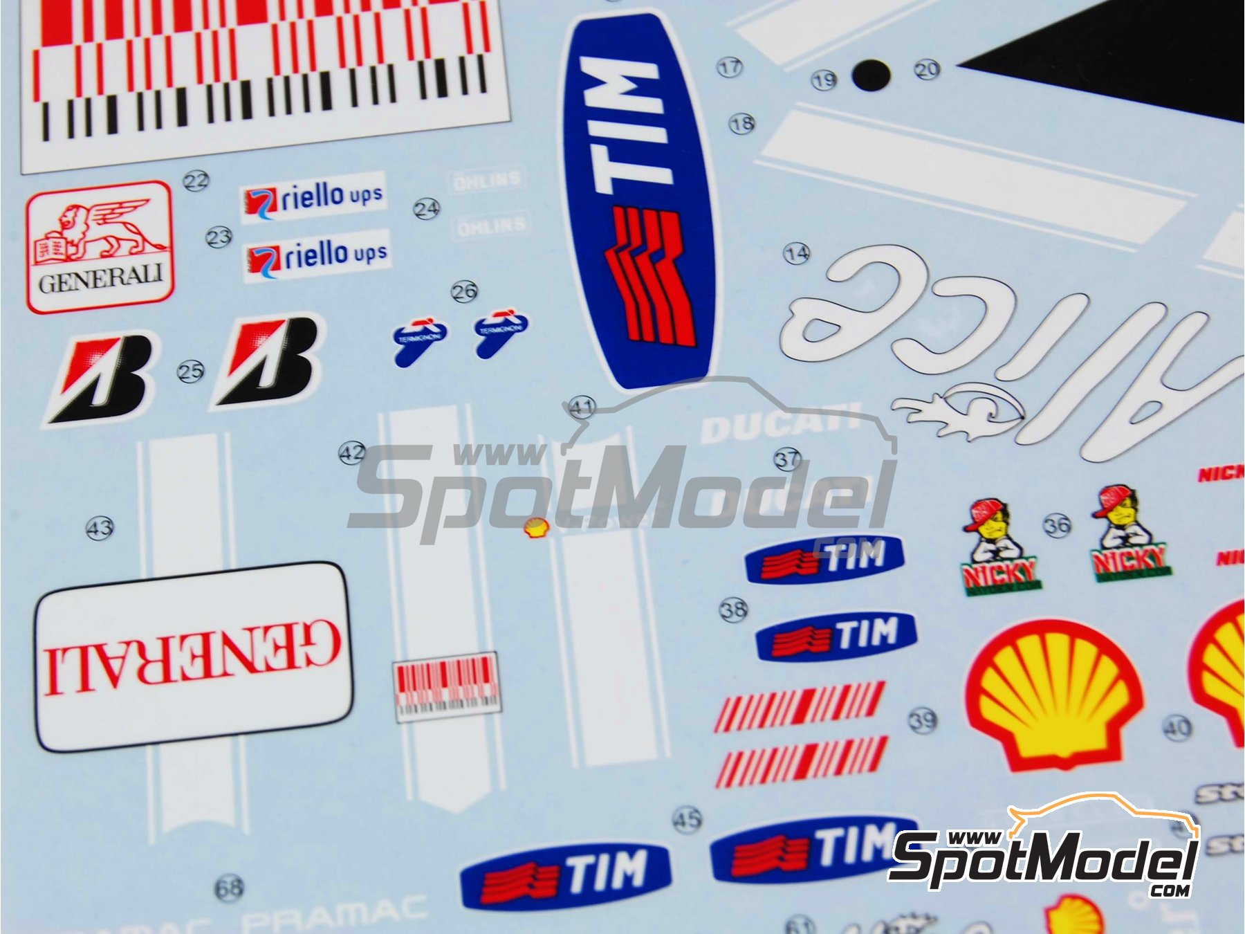 Image 5: Ducati Desmosedici GP9 Enel - Motorcycle World Championship 2009 | Marking / livery in 1/12 scale manufactured by Studio27 (ref.ST27-DC811)