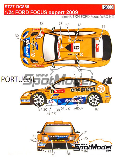 Ford Focus WRC RS10 Expert - Galway International Rally, San Marino Rally 2010 | Decals in 1/24 scale manufactured by Studio27 (ref. ST27-DC886) image