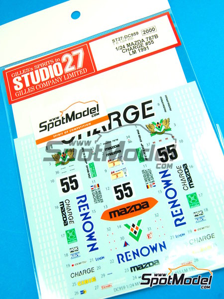 Mazda 787B Renown - 24 Hours Le Mans 1991 | Marking / livery in 1/24 scale manufactured by Studio27 (ref. ST27-DC959) image