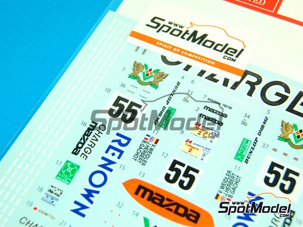 Image 2: Mazda 787B Renown - 24 Hours Le Mans 1991 | Marking / livery in 1/24 scale manufactured by Studio27 (ref. ST27-DC959)