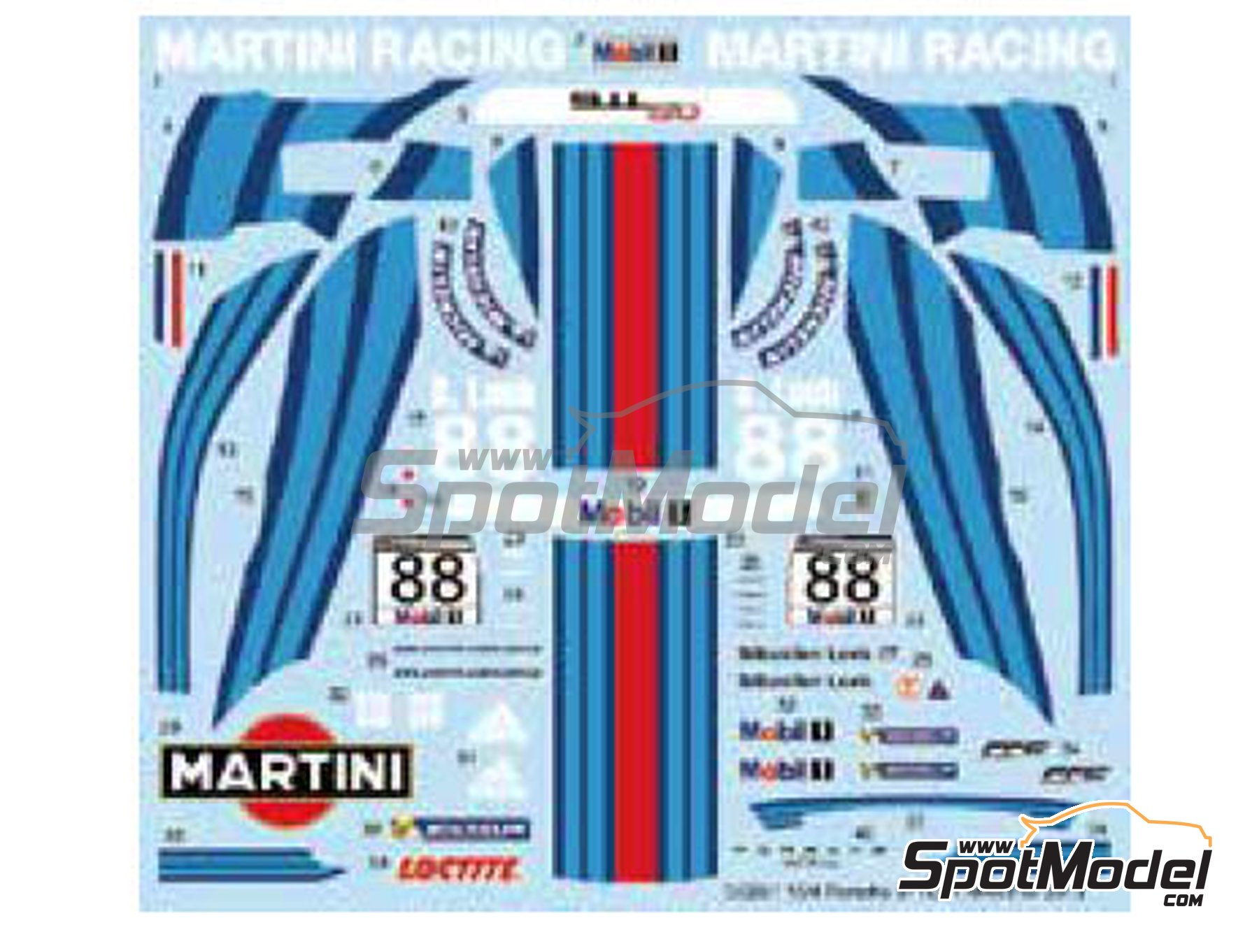 Image 2: Porsche 911 GT3R Martini Racing - Carrera Cup 2013 | Marking / livery in 1/24 scale manufactured by Studio27 (ref. ST27-DC991)
