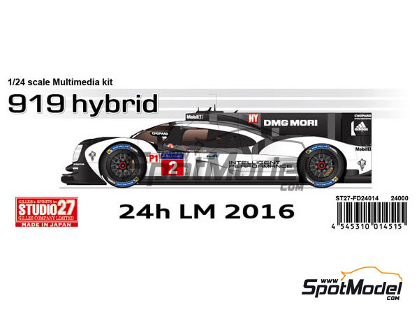 Image 1: Porsche 919 Hybrid - 24 Hours Le Mans 2016 | Model car kit in 1/24 scale manufactured by Studio27 (ref. ST27-FD24014)