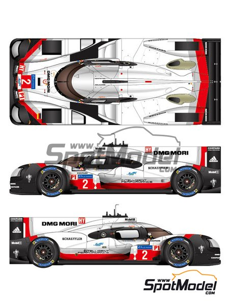 Porsche 919 Hybrid - 24 Hours Le Mans 2017 | Model car kit in 1/24 scale manufactured by Studio27 (ref. ST27-FD24015) image