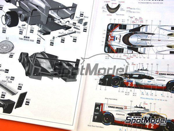 Image 4: Porsche 919 Hybrid - 24 Hours Le Mans 2017 | Model car kit in 1/24 scale manufactured by Studio27 (ref. ST27-FD24015)