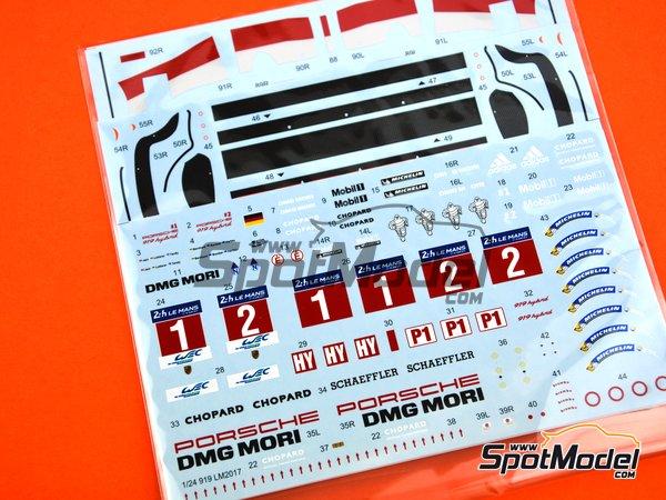 Image 7: Porsche 919 Hybrid DMG Mori - 24 Hours Le Mans 2017 | Model car kit in 1/24 scale manufactured by Studio27 (ref.ST27-FD24015)
