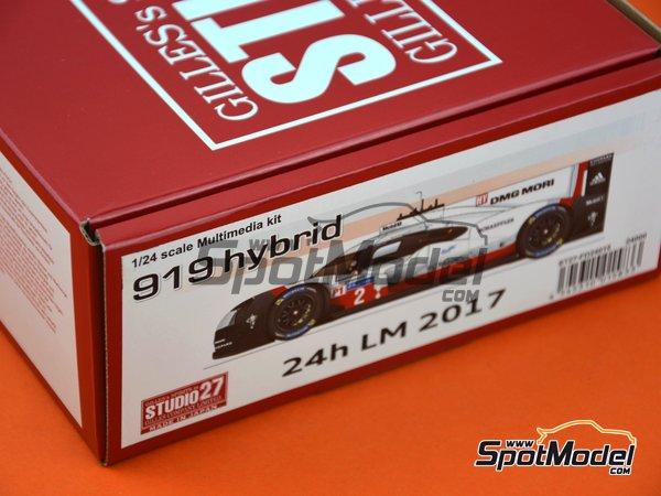 Image 9: Porsche 919 Hybrid DMG Mori - 24 Hours Le Mans 2017 | Model car kit in 1/24 scale manufactured by Studio27 (ref.ST27-FD24015)