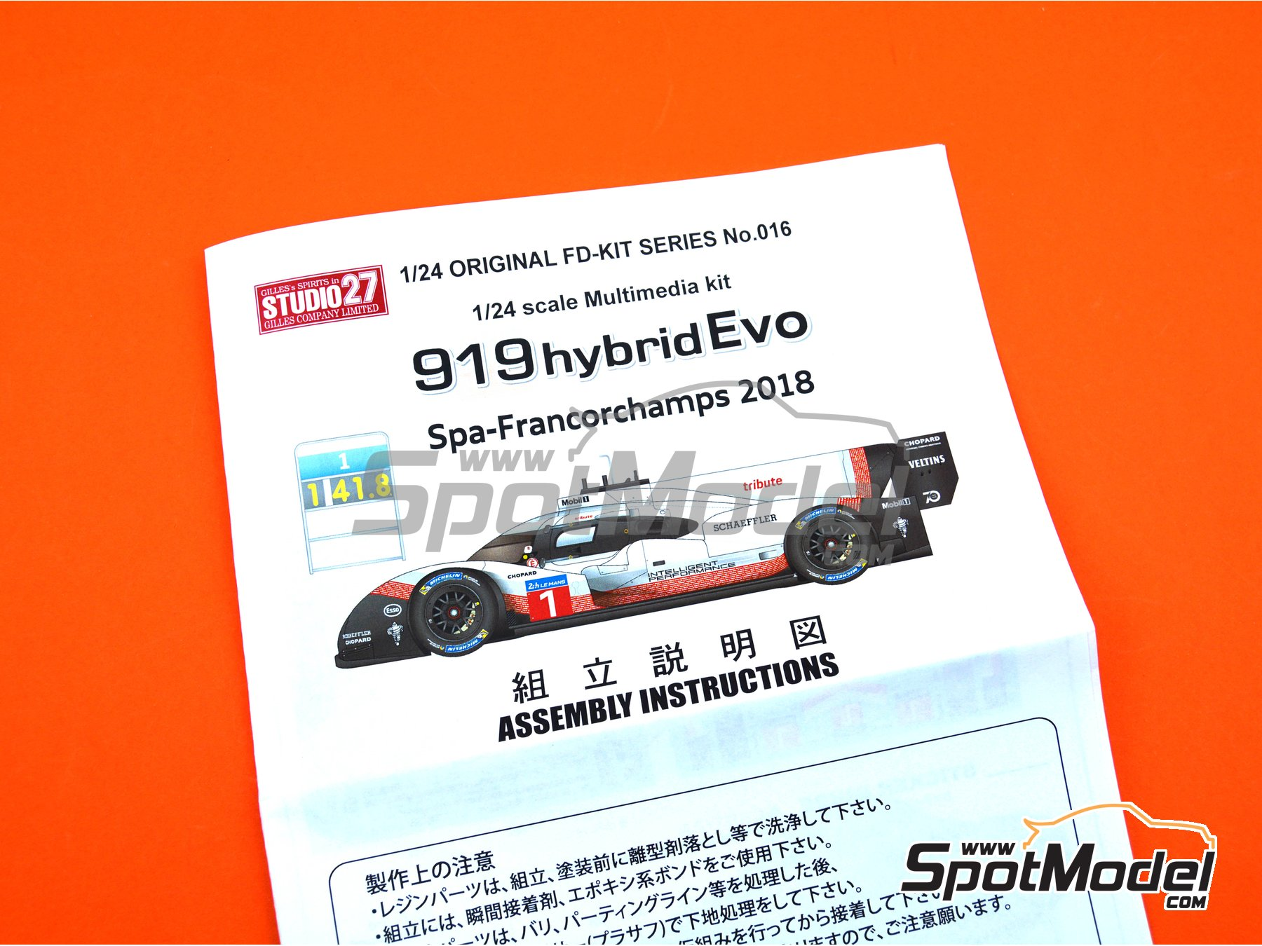 Image 6: Porsche 919 hybrid Evo - SPA Francorchamps 2018 | Model car kit in 1/24 scale manufactured by Studio27 (ref. ST27-FD24016)