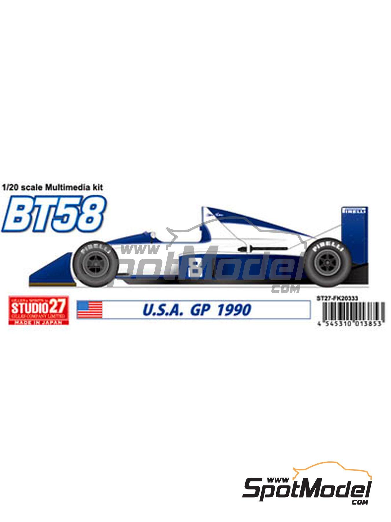 Brabham Judd BT58 - USA Formula 1 Grand Prix 1990 | Model car kit in 1/20 scale manufactured by Studio27 (ref.ST27-FK20333) image