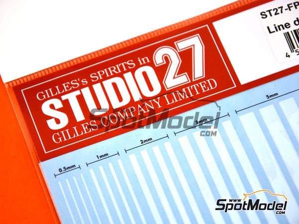 Image 3: White lines | Decals manufactured by Studio27 (ref. ST27-FP0027)