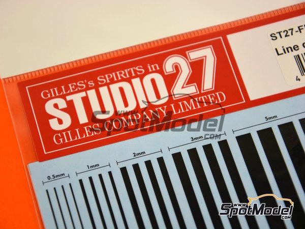 Image 3: Líneas negras | Calcas de agua fabricado por Studio27 (ref.ST27-FP0029)
