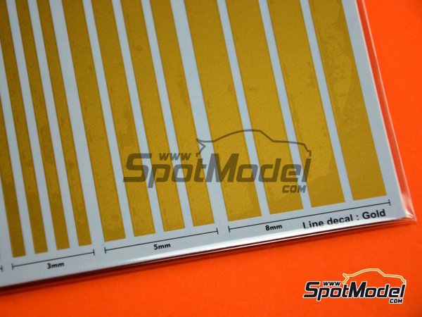 Image 3: Gold lines | Decals manufactured by Studio27 (ref. ST27-FP0031)