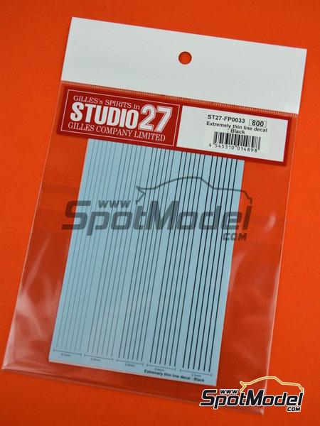 Líneas negras extremadamente delgadas | Calcas de agua fabricado por Studio27 (ref.ST27-FP0033) image