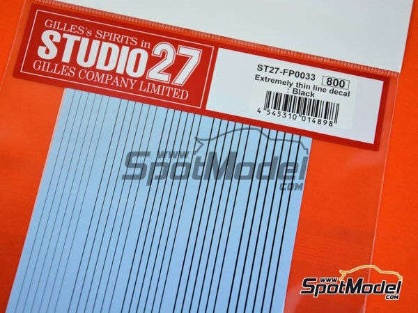 Image 3: Líneas negras extremadamente delgadas | Calcas de agua fabricado por Studio27 (ref.ST27-FP0033)