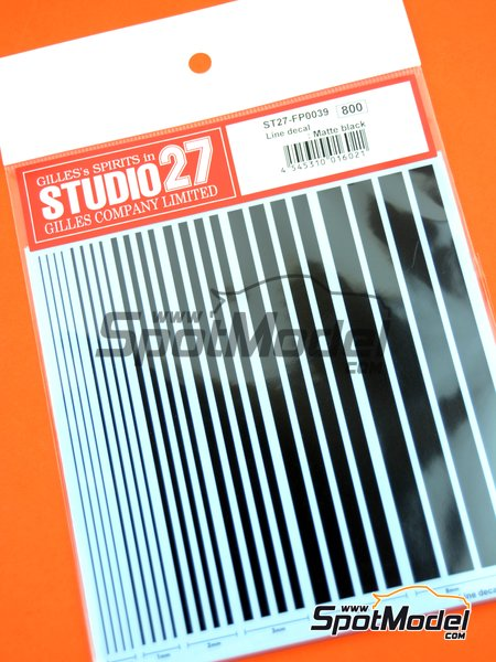 Matte black lines | Decals manufactured by Studio27 (ref. ST27-FP0039) image