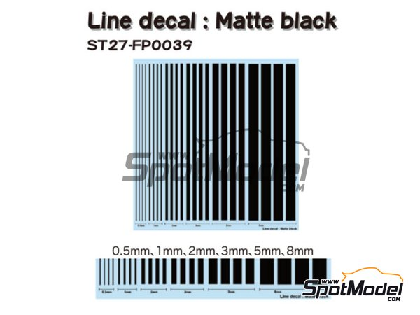 Image 1: Matte black lines | Decals manufactured by Studio27 (ref. ST27-FP0039)