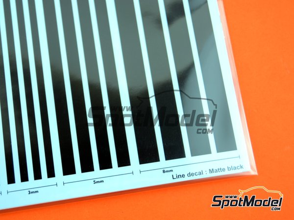 Image 3: Matte black lines | Decals manufactured by Studio27 (ref. ST27-FP0039)