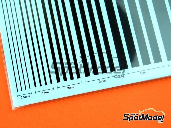 Image 4: Líneas negras mates | Calcas de agua fabricado por Studio27 (ref.ST27-FP0039)