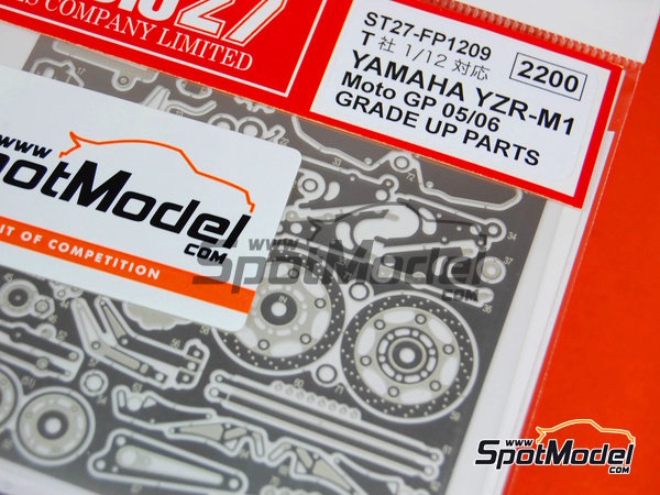 Image 5: Yamaha YZR-M1 -  2005 and 2006 | Detail up set in 1/12 scale manufactured by Studio27 (ref. ST27-FP1209)