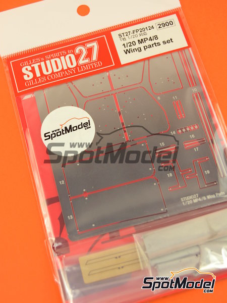 McLaren Ford MP4/8 | Wing set in 1/20 scale manufactured by Studio27 (ref. ST27-FP20124) image