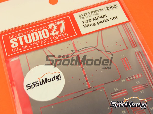 Image 1: McLaren Ford MP4/8 | Wing set in 1/20 scale manufactured by Studio27 (ref. ST27-FP20124)