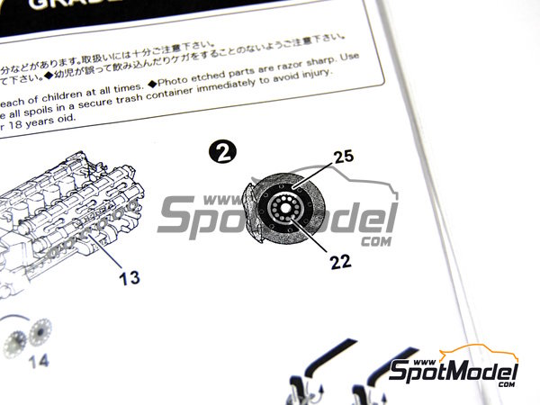 Image 12: McLaren Honda MP4/7 | Detail up set in 1/20 scale manufactured by Studio27 (ref. ST27-FP2052)