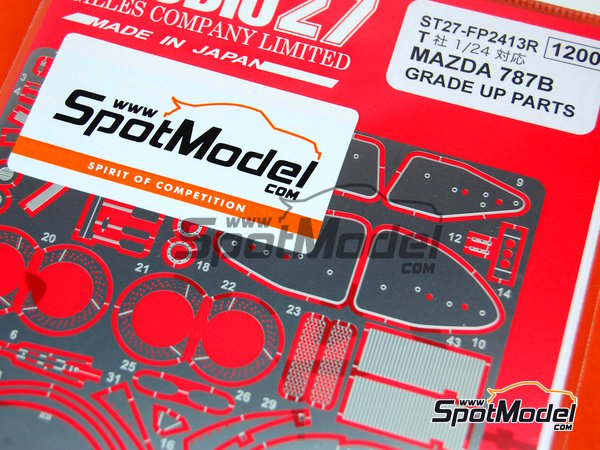 Image 5: Mazda 787B | Detail up set in 1/24 scale manufactured by Studio27 (ref. ST27-FP2413R)