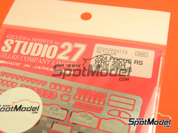 Image 2: Ford Focus RS WRC -  2004 | Photo-etched parts in 1/24 scale manufactured by Studio27 (ref.ST27-FP24173)