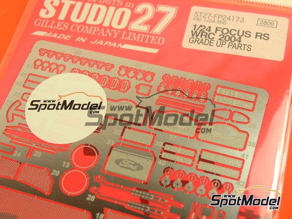 Image 3: Ford Focus RS WRC -  2004 | Photo-etched parts in 1/24 scale manufactured by Studio27 (ref.ST27-FP24173)