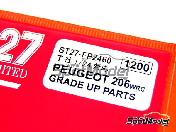 Image 2: Peugeot 206 WRC -  2002 | Detail up set in 1/24 scale manufactured by Studio27 (ref. ST27-FP2460)