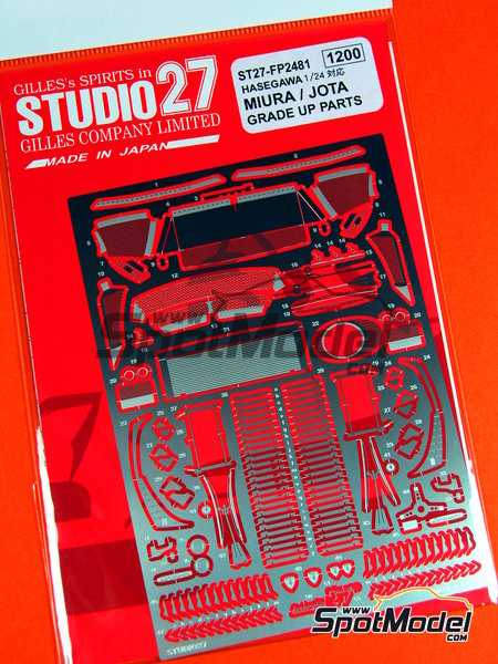 Lamborghini Miura and Jota | Detail up set in 1/24 scale manufactured by Studio27 (ref.ST27-FP2481) image