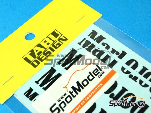 Image 1: McLaren Honda MP4/6 Marlboro - Campeonato del Mundo de Formula1 1991 | Decoración en escala1/12 fabricado por Tabu Design (ref.TABU12012B)
